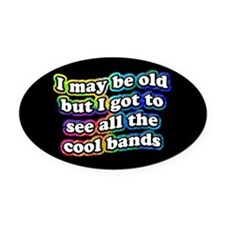 All The Cool Bands Oval Car Magnet