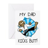 Martial Arts Fathers Day Card By Dad Kicks Butt