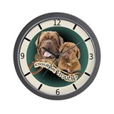 Dogue De Bordeaux Double Trouble Clock Wall Clock