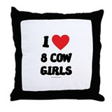 I Love 8 Cow Girls - LDS Clothing - LDS T-Shirts T