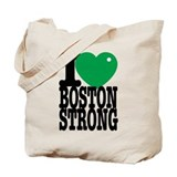 I Green Red Heart Boston Strong Tote Bag