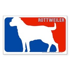 """Rottweiler"" MLD Rectangle Decal"