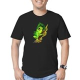 Green Tree Frog Black T-Shirt