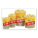Movie Popcorn Rectangle Sticker