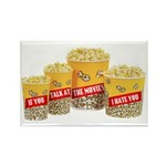 Movie Popcorn Rectangle Magnet (10 pack)
