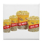 Movie Popcorn Tile Coaster