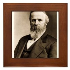 Rutherford B. Hayes Framed Tile