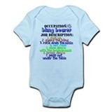 Occupation Bling Bearer Blue Body Suit