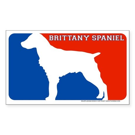 &amp;quot;Brittany Spaniel&amp;quot; MLD Rectangle Sticker
