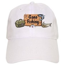 Grandpa Gone Fishing Baseball Cap