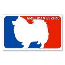 """American Eskimo"" MLD Rectangle Decal"
