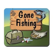 Great Grandpa Gone Fishing Mousepad