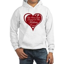 Personalize me Red Transplant Heart Hoodie