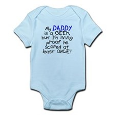 My daddy is a geek scored once Onesie