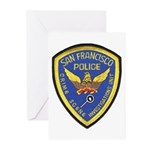 San Francisco Police CSI Greeting Cards (Package o