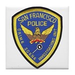 San Francisco Police CSI Tile Coaster