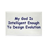 """My God Is Intelligent"" Rectangle Magnet (10 pack)"