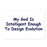 &quot;My God Is Intelligent&quot; Postcards (Package of 8)