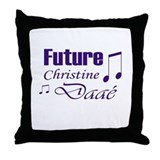 Future Christine Daae Throw Pillow