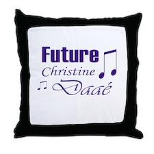 Future Christine Daae Throw Pillow