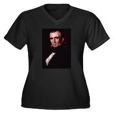 James Polk Women's Plus Size V-Neck Dark T-Shirt