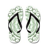 GReen Apples kaleidoscope Flip Flops