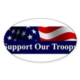 Support Our Troops Bumper Decal Decal