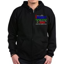 In The Fight 2 Autism Zip Hoodie
