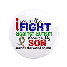 "In The Fight 2 Autism 3.5"" Button (100 pack)"