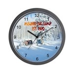 MELROSE ELK CAMP Wall Clock