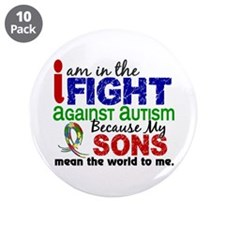 "In The Fight 2 Autism 3.5"" Button (10 pack)"