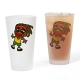 rasta Drinking Glass
