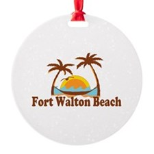 Fort Walton Beach - Palm Trees Design Ornament