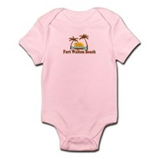 Fort Walton Beach - Palm Trees Design Infant Bodys