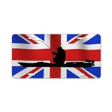 British Kayak Angler - Aluminum License Plate