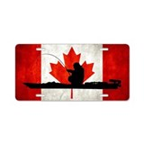 Canadian Kayak Angler - Aluminum License Plate