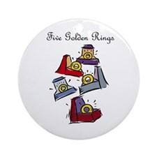 Fifth Day of Christmas Ornament (Round)