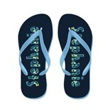 Stephanie Under Sea Flip Flops