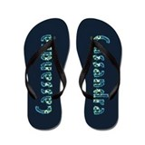 Cassandra Under Sea Flip Flops