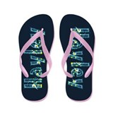 Hayley Under Sea Flip Flops