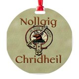 Gaelic Merry Christmas Round Ornament