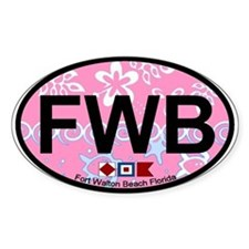 Fort Walton Beach - Oval Design Decal