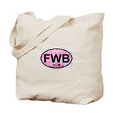 Fort Walton Beach - Oval Design Tote Bag