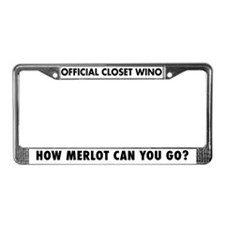 How Merlot Can You Go? License Plate Frame