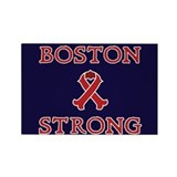 Boston Strong Ribbon Rectangle Magnet