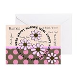 happy nurse week 99 Greeting Cards (Pk of 20)