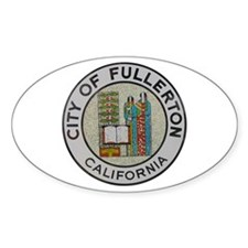 City of Fullerton, California Oval Decal