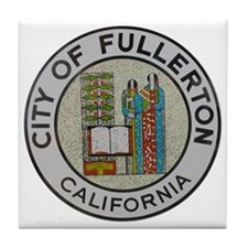 City of Fullerton, California Tile Coaster