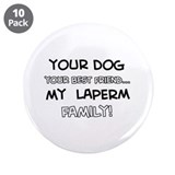 "Laperm Cat designs 3.5"" Button (10 pack)"