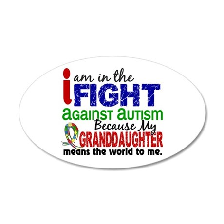 In The Fight 2 Autism 20x12 Oval Wall Decal